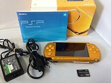 PSP Bright Yellow Console Japan Playstation *GREAT CONDITION - COMPLETE*