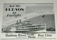 1929 Hudson River Day Line advertisement Hendrick Hudson steamboat, New York