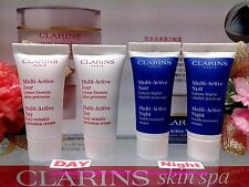 "[Clarins] Multi Active(Day Cream + Night  Cream) Set (5mlx2) Each"" F/POST!"