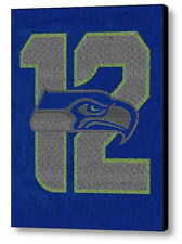 Official Seattle Seahawks 12th fan man 2014 Roster Mosaic FRAMED Limited Edition