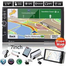 """7""""HD 2DIN In Dash Bluetooth Touch Car Stereo Radio MP3 Player GPS Nav FM/USB+Map"""