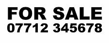 2x FOR SALE + PHONE NUMBER {Custom Car/Van/Window Vinyl Sign Decal Sticker} A001