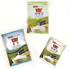 Korean Natural Roasted Seaweed Dried Laver for GIMBAB, SUSHI, NORI Three bags