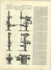 1883 San Francisco Tool Company Drilling Boring Shaping Machine Diagram