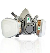 6200 Dual-Canister Gas Mask Chemical Filter Protection Mask Respirator Gray