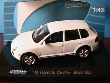 PORSCHE CAYENNE TURBO 2002 WHITE KDW 711 COLLECTION 1/43 WEISS BIANCA BLANCHE