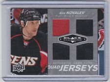 10-11 2010-11 BLACK DIAMOND ALEX KOVALEV QUAD JERSEY QJ-AK OTTAWA SENATORS