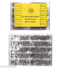 WATCH SCREW VITE OCCHIALI DA SOLE, OROLOGI 1000 PZ MISURE 1,6mm - 6mm