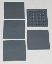 LEGO LOT OF 5 NEW 6 X 6 DOT TILES SMOOTH FLAT PIECES