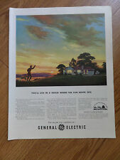 1950 GE General Electric Ad You'll Live in a House Where the Sun Never Sets
