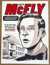Eric Tan BACK TO THE FUTURE Print McFLY POSTER Hill Valley Star Wars Moss Rogue
