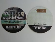Beer Coaster ~ HI LINE LIVING Apartment Homes Hashtag Draw ~ Littleton, COLORADO