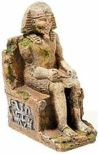 Egyptian Pharaoh Statue Aquarium Ancient Ruin Ornament Fish Tank Decoration