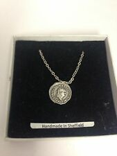 Titus WE-C11 Roman Coin  Emblem on Silver Platinum Plated Necklace 18""