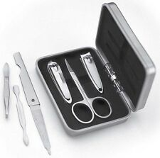 6 Pce Professional Stainless Steel Manicure Set Hand Toe Nail Tweezers Clippers