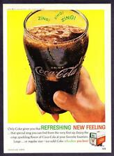 "1962 Coca-Cola Classic Glass photo ""That Special ZING!"" Coke vintage print ad"