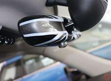 Interior Rear View Mirror Cover Black Union Jack for MINI Cooper F56 F54 2015