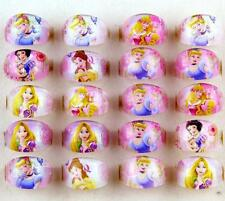 Wholesale 100 Pcs Mix Resin Round Disney Princess Children Rings gifts J-01