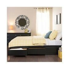 Queen Platform Bed With Storage Drawers Black Beds Frame Contemporary Furniture