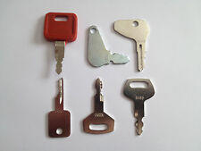Set of (6) Case IH Bobcat Ingersol-Rand IR Linkbelt JCB Terex Equipment Keys