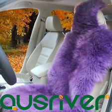 Violet Premium Quality Australian Sheep Skin Car Long Wool Front Seat Cover