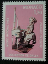 TIMBRE MONACO *  PIANISTE HARPISTE * COLLECTION DE GALEA - MUSEE NATIONAL 1983