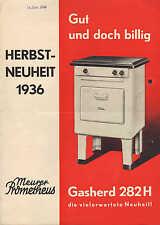 COSSEBAUDE b. Dresden, 3 x Werbung 11/1936, Gasherde Eisenwerk G. Meurer AG