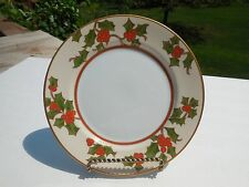 "FITZ & FLOYD ""CHRISTMAS HOLLY"" PATTERN  7.5"" SALAD PLATE NEAR MINT!"