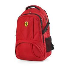 Ferrari Red Sporty Backpack w/Scuderia Ferrari Logo Badge on Front of Bag