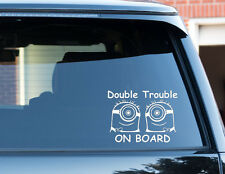 Minions Double Trouble On Board Twins Baby Child Window Car Sign Decal Sticker