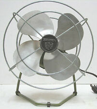 "vintage Torcan 8"" Electric AC Fan All Metal Works Perfectly Nice"