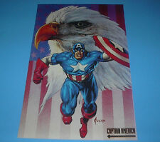 MARVEL HEROES CAPTAIN AMERICA EAGLE POSTER PIN UP JUSKO