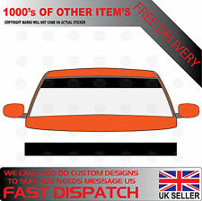 BLACK GLOSS WINDSCREEN SUNSTRIP 1400mmx190mm FORD VAN VEHICLE GRAPHICS STICKERS