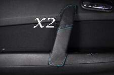 BLUE STITCHING FITS MAZDA 6 2008-2012 REAR 2X DOOR HANDLE LEATHER COVER