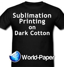 """Sublimation Printing for Dark Cotton Fabric 8.5""""x11"""" 3G Heat Press 25 sheets  :)"""