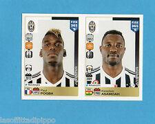FIFA 365/2016-PANINI ITA-Figurina n.562/566- POGBA+ASAMOAH -JUVENTUS-NEW