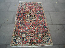 "OLD HANDMADE PERSIAN Oriental wool Rug 181x98cm 6'x3'3"" Multi-Coloured"