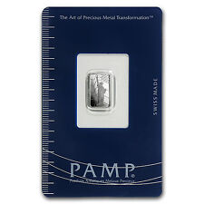 1 gram Platinum Bar - Pamp Suisse Statue of Liberty (In Assay) - SKU #93594