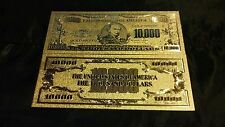 UNIQUE HOT ITEM! GOLD $10,000 Rep.*COLLECTIBLE Banknote FREE~SHIPPING IN U.S!*
