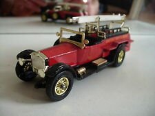 Matchbox Model of yesteryear Rolls Royce Fire Engine in Red