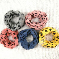 Sales Children's Cotton Scarves Unisex Winter Knitting Stars Collar Neck Warmer