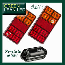 Trailer Tail STOP Light LED Lamp Indicator Submersible 12V NUMBER PLATE