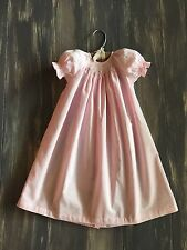 Remember Nguyen's Baby Sen Pink Smocked Soft Cotton Daygown Dress Size 9 Months