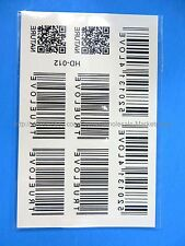 *US SELLER*tattoo transfers for adults bar code Tattoo Temporary Skin Sticker