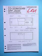 Service Manual-Anleitung für Kenwood CD-323M/CD-324M/DPF-J5020 ,ORIGINAL