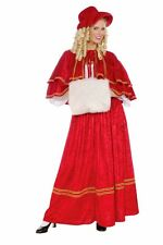 Adult Classic Christmas Caroler Costume Dress  Victorian Dickens Carol - Fast -