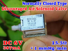 DC 6V Normally Closed Type mini Exhaust Solenoid Valve Discouraged Gas/Air Valve