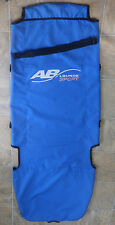 AB LOUNGE SPORT EXERCISER WORKOUT SEAT COVER CANVAS FABRIC BLUE with HAND STRAP