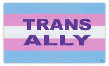 Bumper Sticker Decal - Trans Ally Pride Flag Transgender Transsexual Transexual