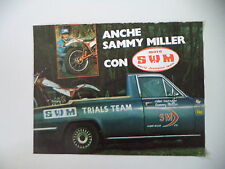 advertising Pubblicità 1978 MOTO SWM TRIAL e SAMMY MILLER